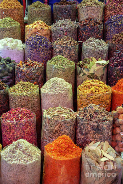 Wall Art - Photograph - Colorful Spices In Dubai by Delphimages Photo Creations