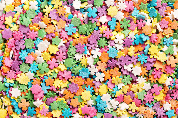 Wall Art - Photograph - Colorful Sprinkles Background by Elena Veselova