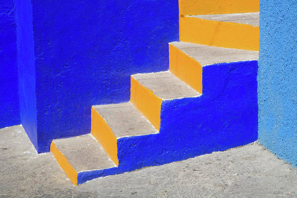 Wall Art - Photograph - Colorful Stairs, Guanajuato, Mexico by Danita Delimont