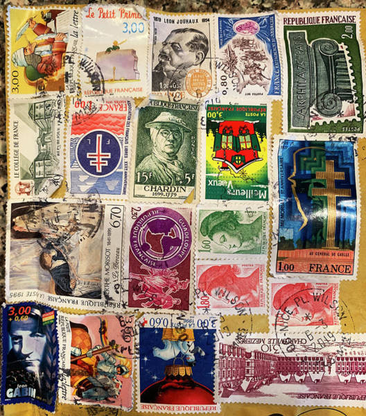 Photograph - Colorful Stamp Collection by Marilyn Hunt