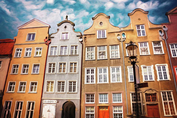 Wall Art - Photograph - Colorful Streets Of Gdansk Poland  by Carol Japp