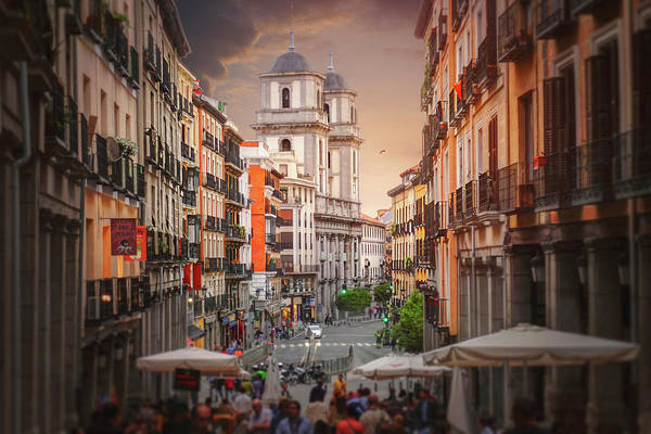 Wall Art - Photograph - Colorful Streets Of Madrid Spain  by Carol Japp