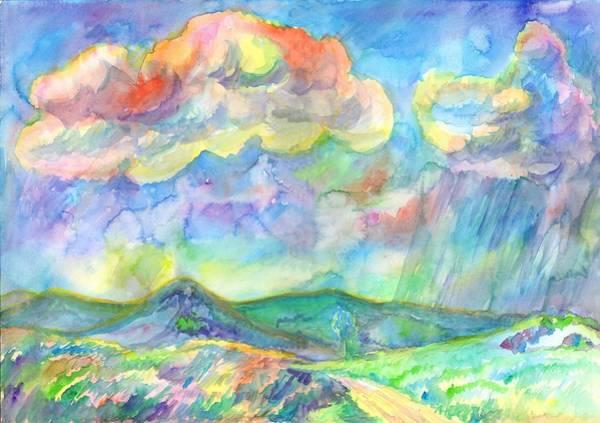 Painting - Colorful Summer Landscape by Irina Dobrotsvet