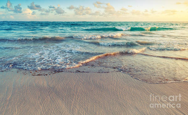 Effect Wall Art - Photograph - Colorful Sunrise Landscape On Atlantic by Evannovostro