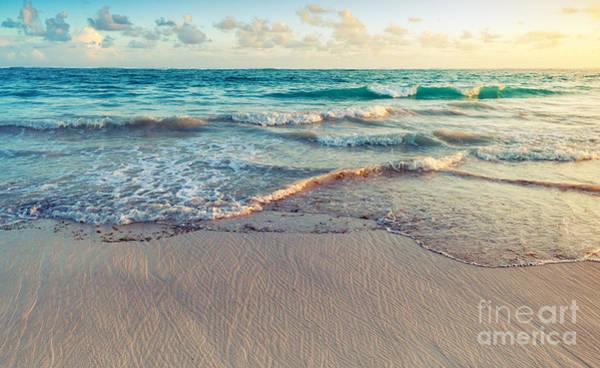 Beautiful Sunrise Photograph - Colorful Sunrise Landscape On Atlantic by Evannovostro