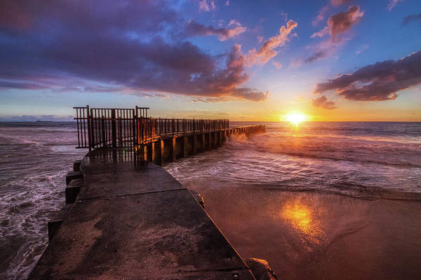 Photograph - Colorful Sunset At Toes Beach by Andy Konieczny
