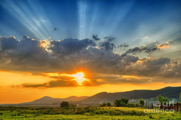 Wall Art - Photograph - Colorful Sunset In The Summer by Mihai tamasila