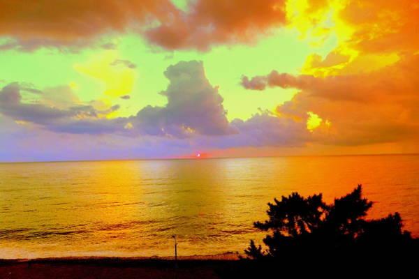 Gorecki Photograph - Colorful Sunset On The Black Sea by Henryk Gorecki