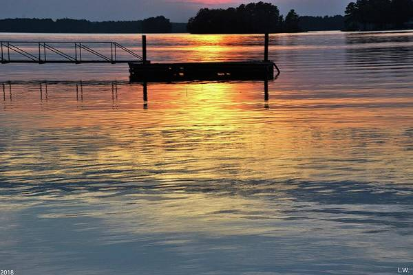 Photograph - Colorful Sunset On The Lake by Lisa Wooten