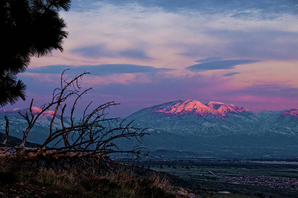 High Dynamic Range Imaging Photograph - Colorful Sunset Over Etiwantda Nature by Bill Wight