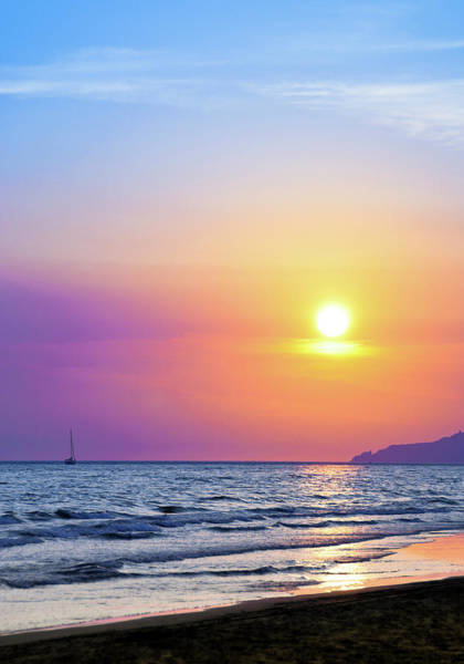 Wall Art - Photograph - Colorful Sunset Over The Sea by Scacciamosche