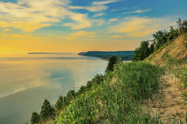 Photograph - Colorful Sunset Sky Over Sleeping Bear Dunes by Dan Sproul