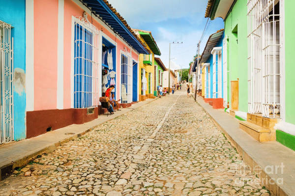 Colonial Wall Art - Photograph - Colorful Traditional Houses In The by Anna Jedynak