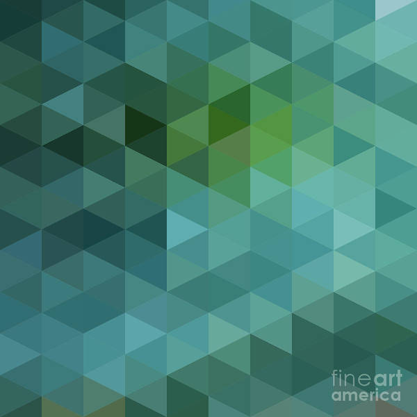 Wall Art - Digital Art - Colorful Triangles Background by Max Krasnov