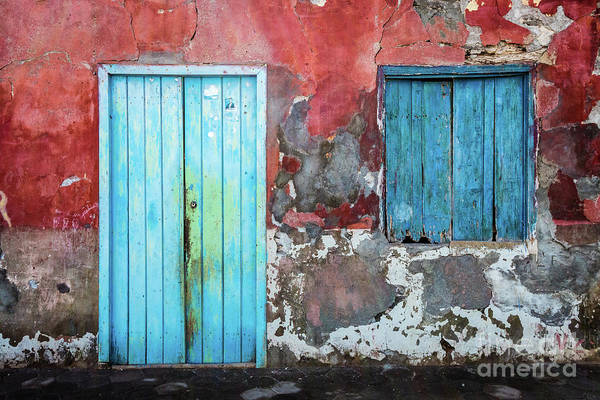 Photograph - Colorful Wall, Door And Shutters by Lyl Dil Creations