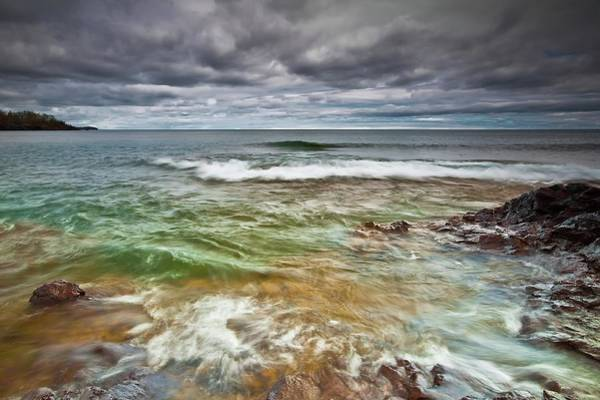 Lake Superior Photograph - Colorful Waves Of Lake Superior by Image By Jeff Jacobson