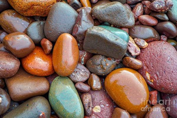 Colorful Wet Stones Art Print