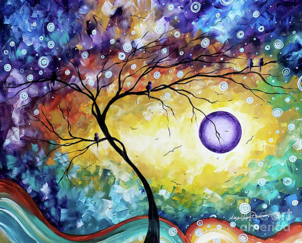 Wall Art - Painting - Colorful Whimsical Original Landscape Tree Painting Purple Reign By Megan Duncanson by Megan Duncanson