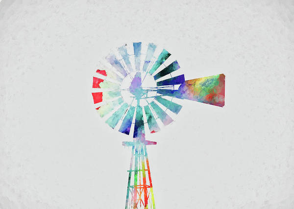 Photograph - Colorful Windmill by Andrea Anderegg