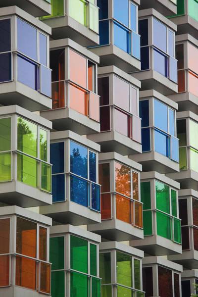 Bilbao Photograph - Colorful Windows, Hesperia Bilbao by Danita Delimont