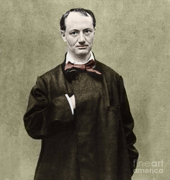 Wall Art - Photograph - Colorized Portrait Of The Poet Charles Baudelaire  by French School