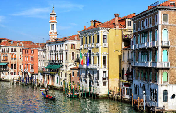 Photograph - Colors Along The Grand Canal In Venice by John Rizzuto