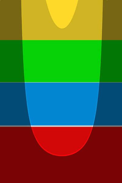 Wall Art - Digital Art - Colors An Forms No.4 by Steve K