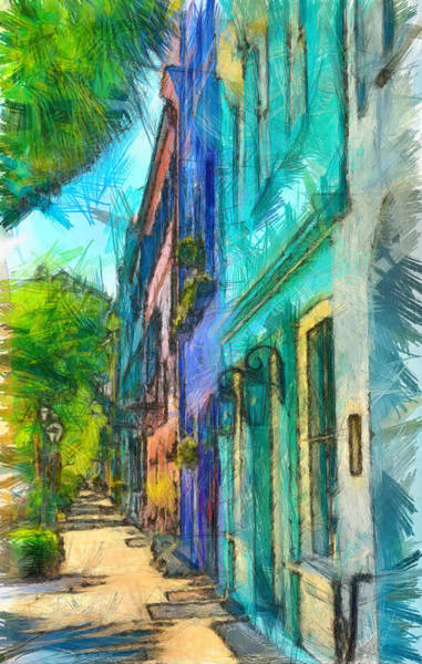 Painting - Colors Of Rainbow Row by Dan Sproul
