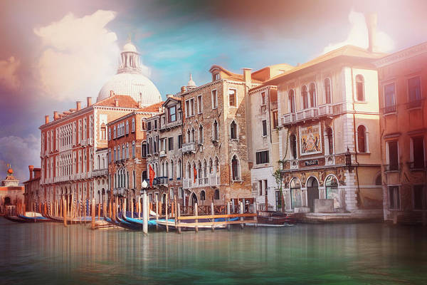 Italia Photograph - Colors Of The Grand Canal Venice Italy  by Carol Japp