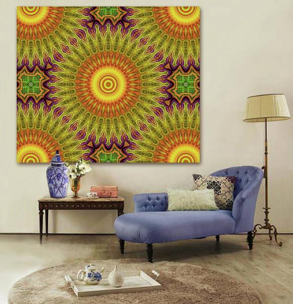 Wall Art - Digital Art - Colors Of The Sun - Artwork In Situ by Grace Iradian