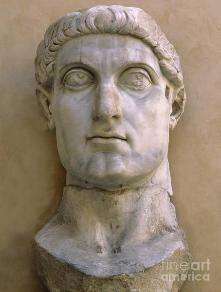 Wall Art - Sculpture - Colossal Head Of Constantine The Great by Roman School