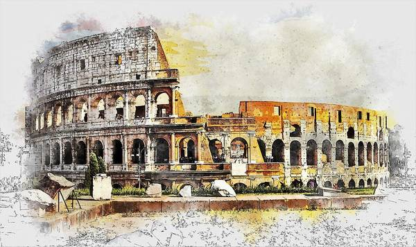 Arena Painting - Colosseum by ArtMarketJapan