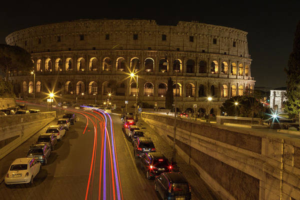 Photograph - Colosseum At Night by John Daly