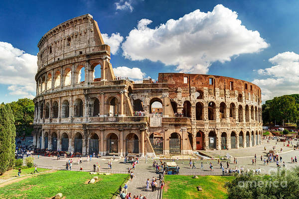 Arena Wall Art - Photograph - Colosseum In Rome, Italy. Ancient Roman by Viacheslav Lopatin