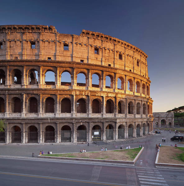 Ancient Photograph - Colosseum In The Evening Light, Rom by Rainer Mirau / Look-foto