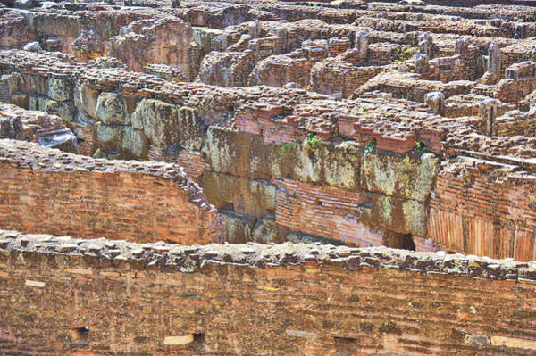 Photograph - Colosseum Masonry by JAMART Photography