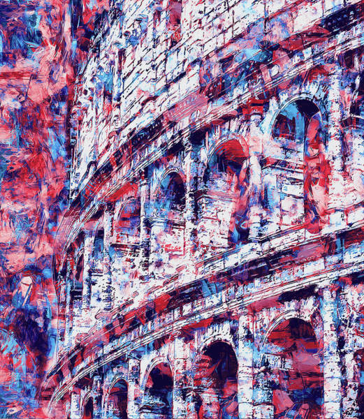 Painting - Colosseum, Rome - 12 by Andrea Mazzocchetti