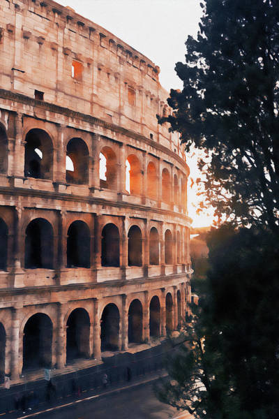 Painting - Colosseum, Rome - 14  by Andrea Mazzocchetti