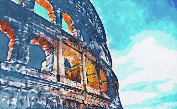 Painting - Colosseum, Rome - 16 by Andrea Mazzocchetti