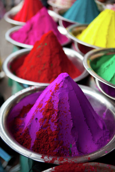 Hindu Photograph - Colouful Powder by Natalie Solveland