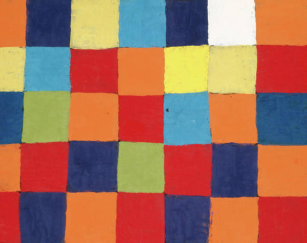 Wall Art - Painting - Colour Table, Qu by Paul Klee