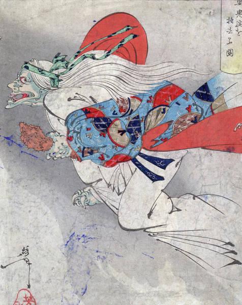 Wall Art - Photograph - Colour Woodcut Of Ibaraki. Woodcut by Uig