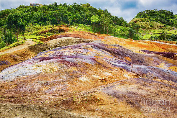 Wall Art - Photograph - Coloured Earth. Mauritius.  by MotHaiBaPhoto Prints