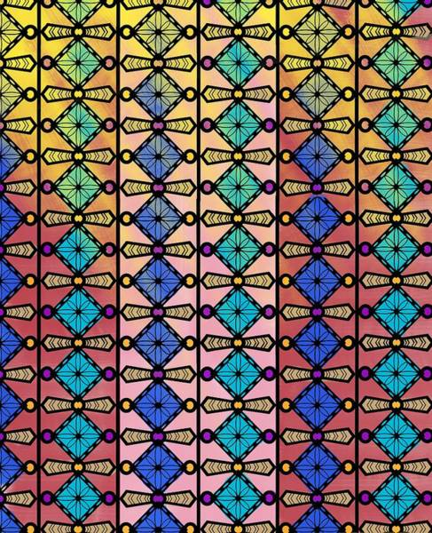 Drawing - Coloured Glass Window by Joan Stratton