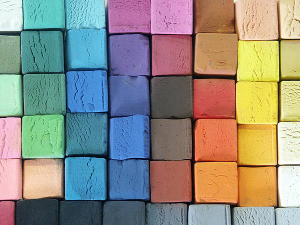 Close Up Photograph - Coloured Pastels by Mevans