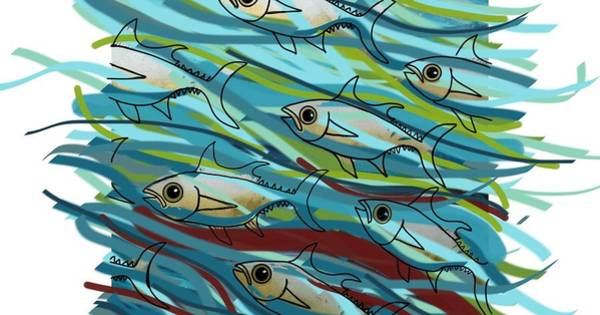 Mixed Media - Coloured Water Fish - Digital Change 2 by Joan Stratton