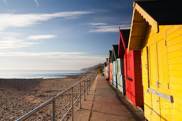 Britain Photograph - Colourful Beach Huts On The Cromer Beach by Radomir Rezny