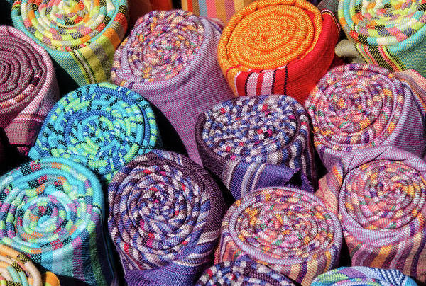 Photograph - Colourful Blankets, Old Biscuit Mill by Rob Huntley