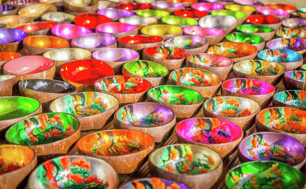 Photograph - Colourful Bowls by Gary Gillette