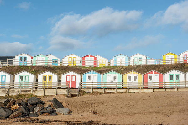 Photograph - Colourful Bude Beach Huts IIi by Helen Northcott